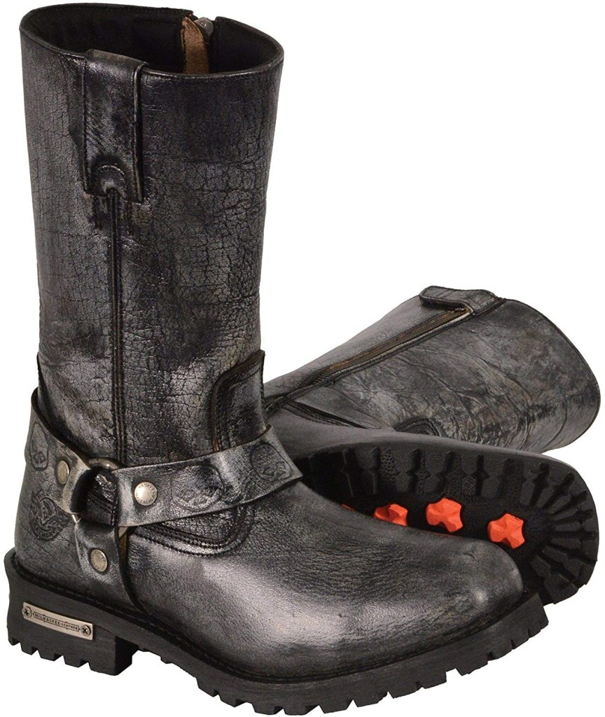 milwaukee leathergray moto boot