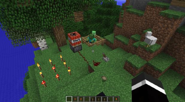 Minecraft survival game