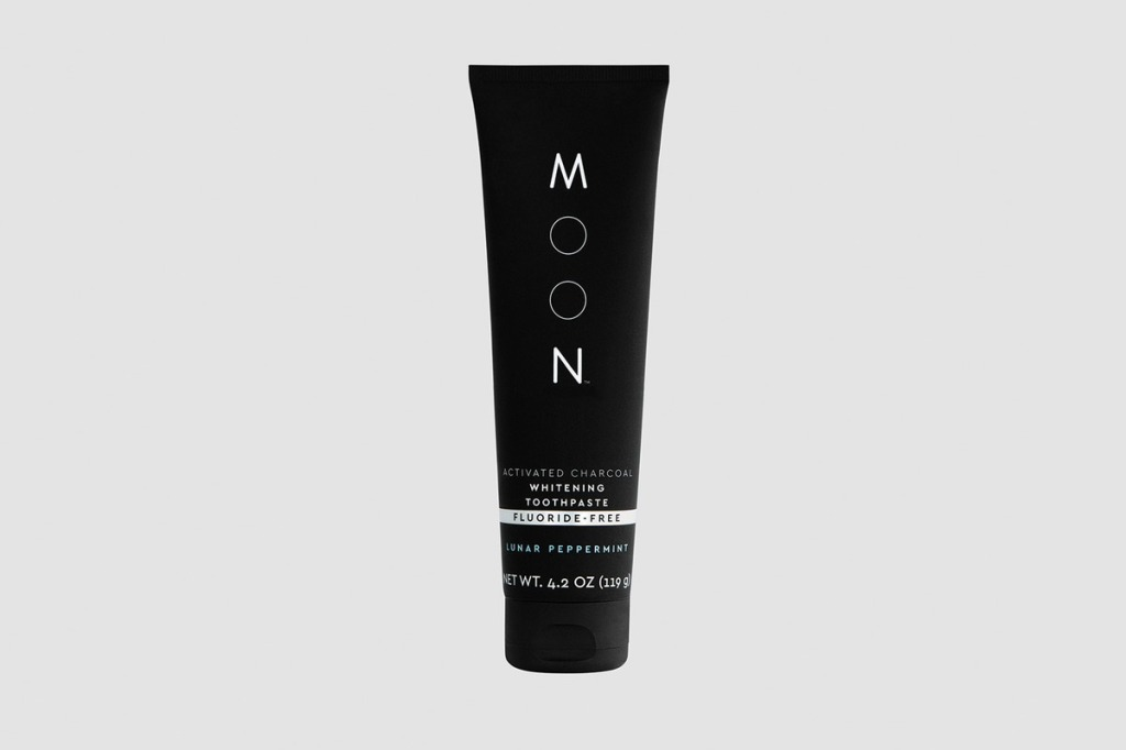 Moon Activated Charcoal Whitening Toothpaste Fluoride-Free Lunar Peppermint Flavor