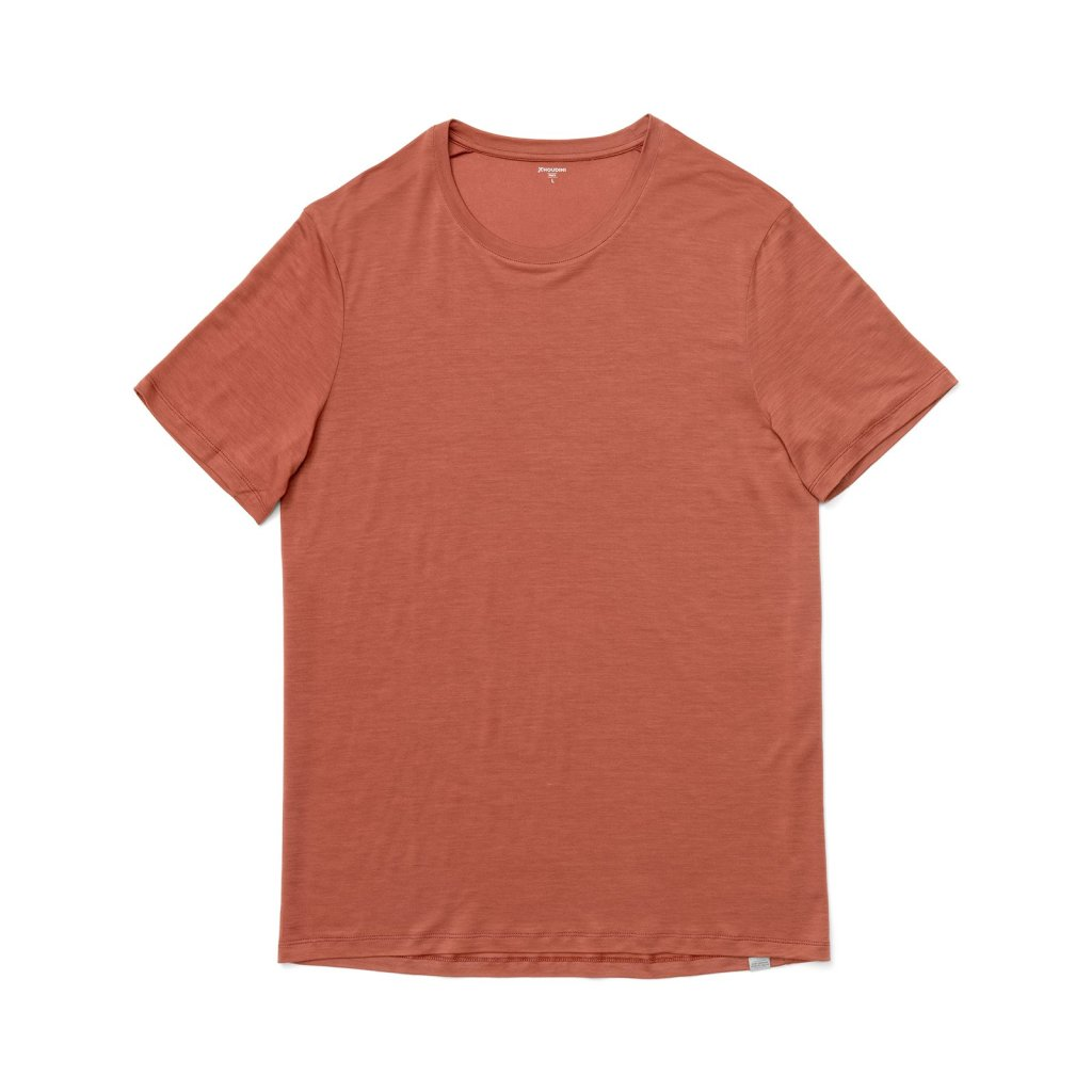rust colored t shirt