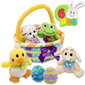 my first easter egg basket stuffed plush playset
