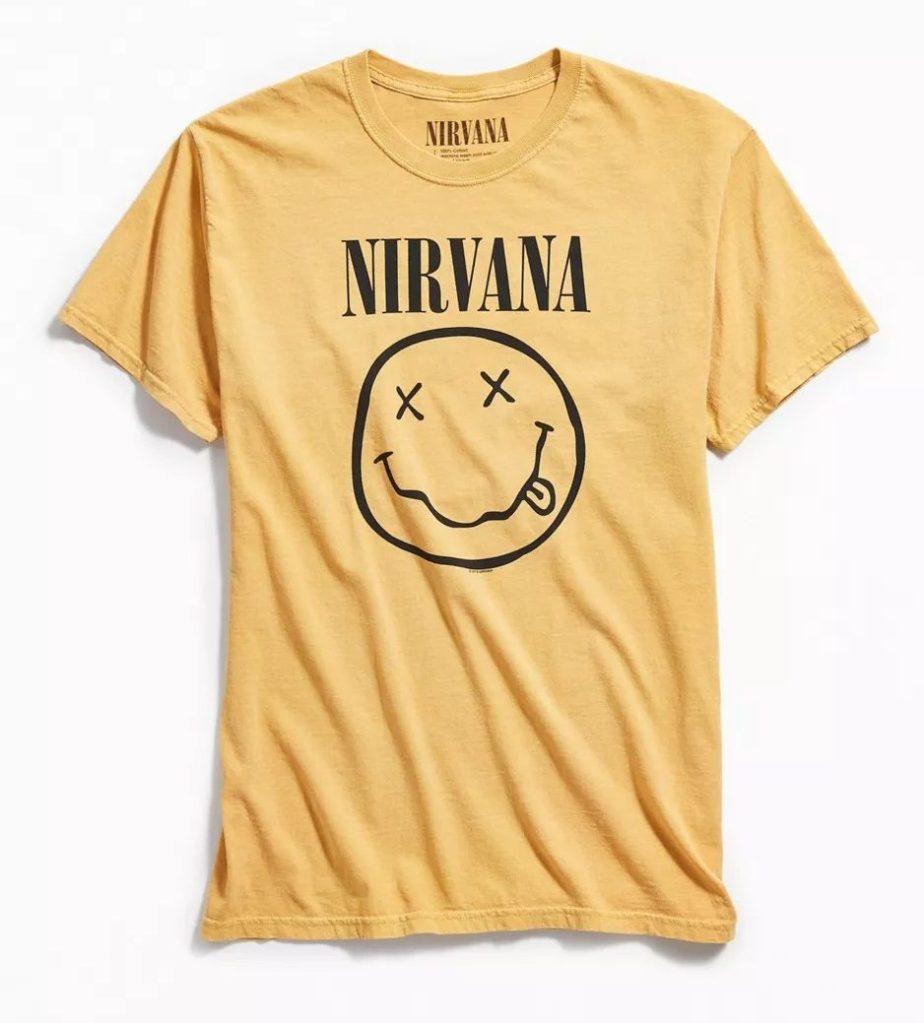 Nirvana Pigment Dye Smile Tee