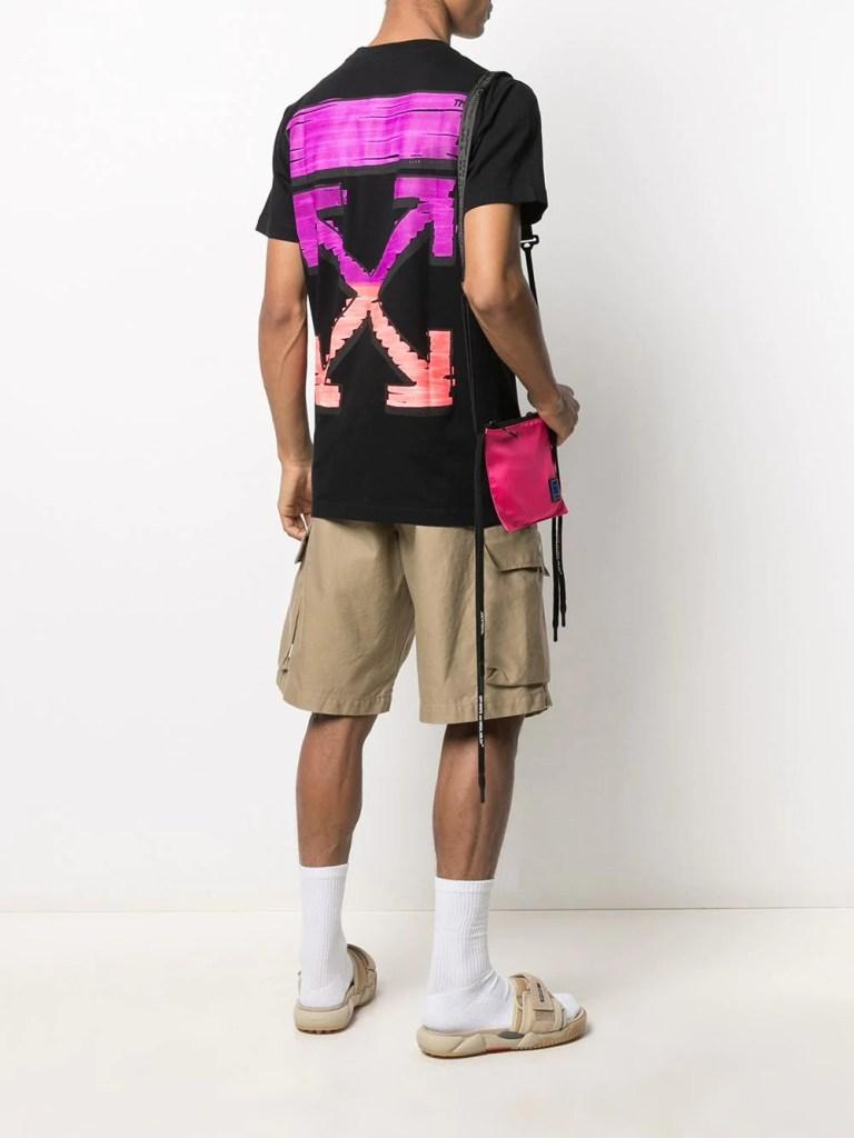 designer t-shirts for menOff-White-Arrows-Print-Cotton-T-Shirt