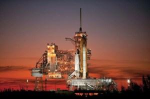 atlantis shuttle on launch pad poster, best NASA merch