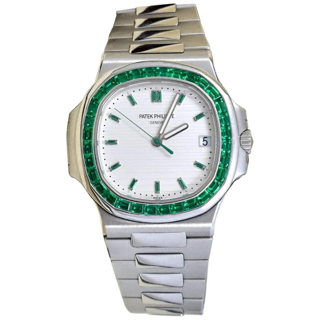 Patek-Philippe-Emerald-5711P-Nautilus-40th-Anniversary-Watch Most Expensive Watch