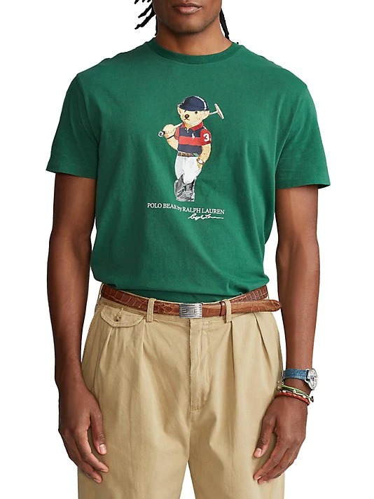 designer t-shirts for menPolo-Ralph-Lauren-Classic-Fit-Polo-Bear-T-Shirt