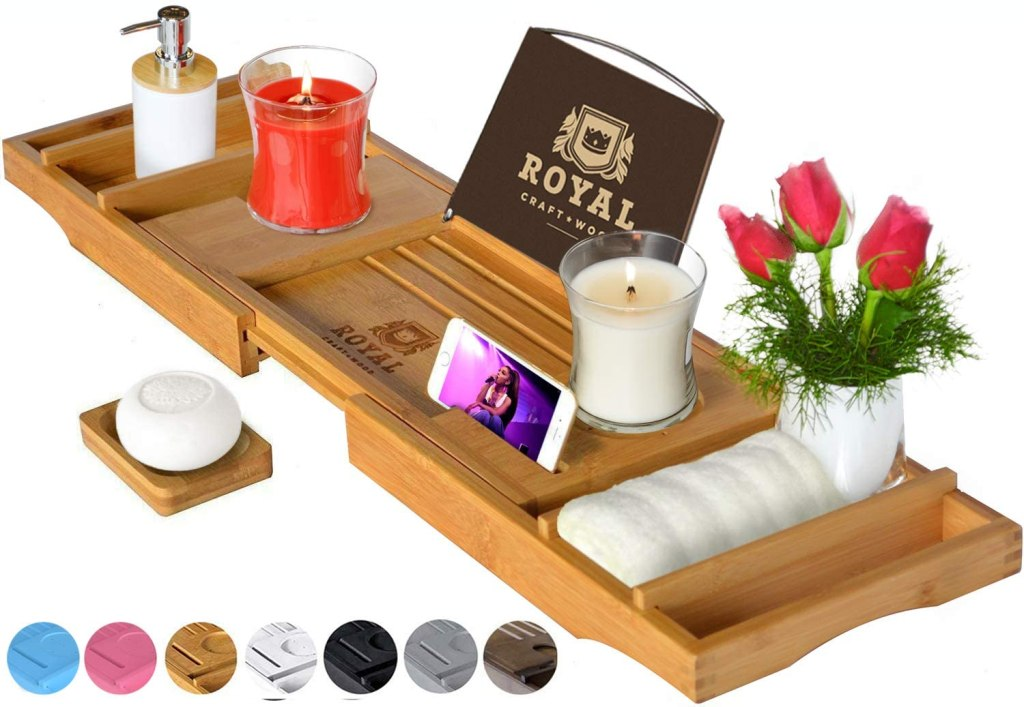 bathtub tray royal craft wood luxury