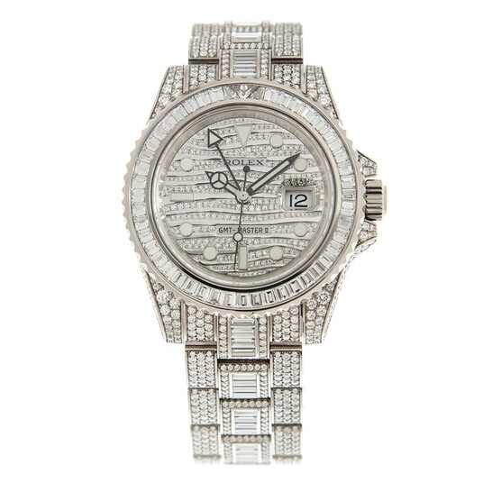 Rolex-GMT-Master-II-Diamond-Automatic-18kt-White-Gold-Set-With-Diamonds Most Expensive Watch