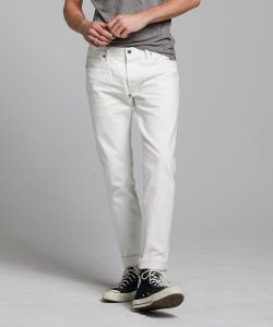 SLIM FIT JAPANESE SELVEDGE STRETCH JEAN IN WHITE WASH