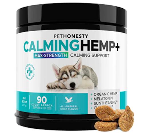 PetHonesty Advanced Calming Hemp & Valerian Root Treats for Dogs cbd for pets