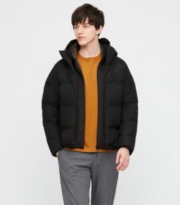 Uniqlo men's seamless down parka, men's winter coats on sale