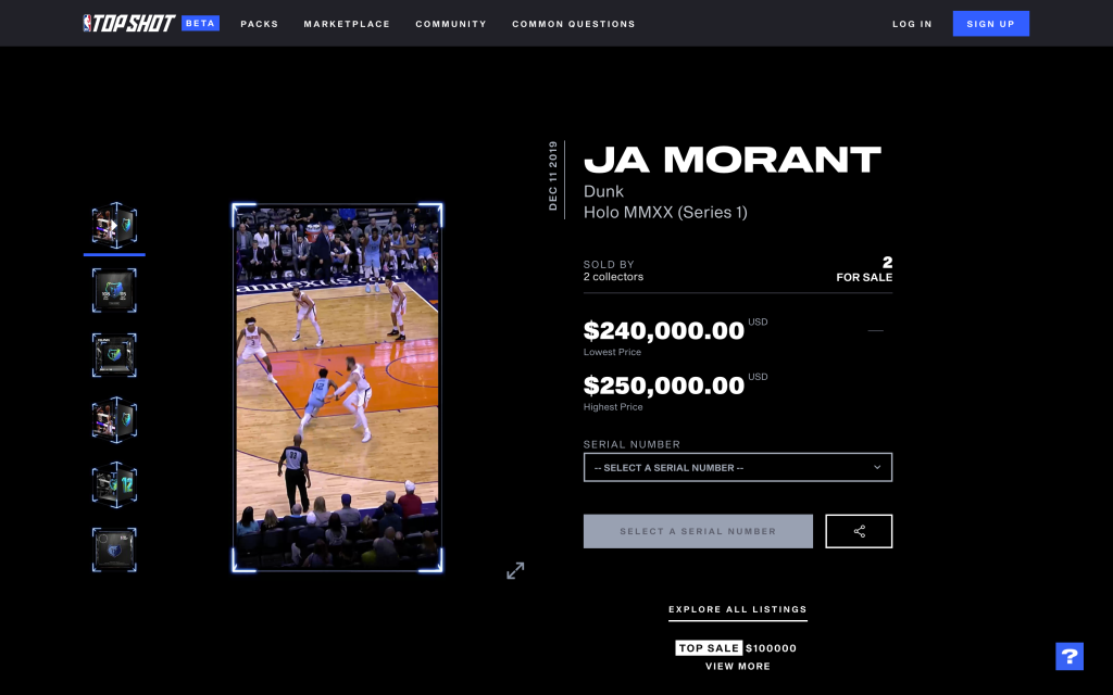 NBA Top Shot Moment