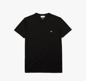 Lacoste Men's Crew Neck Pima Cotton Jersey Black T-shirt