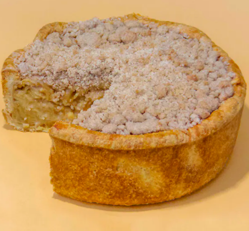 apple deep dish pie, goldbelly pi day