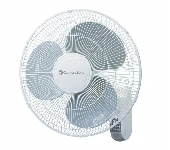 Comfort Zone Quiet 3-Speed Wall Mount Fan