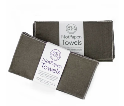 Well Earth Goods Flannel Notpaper Towels