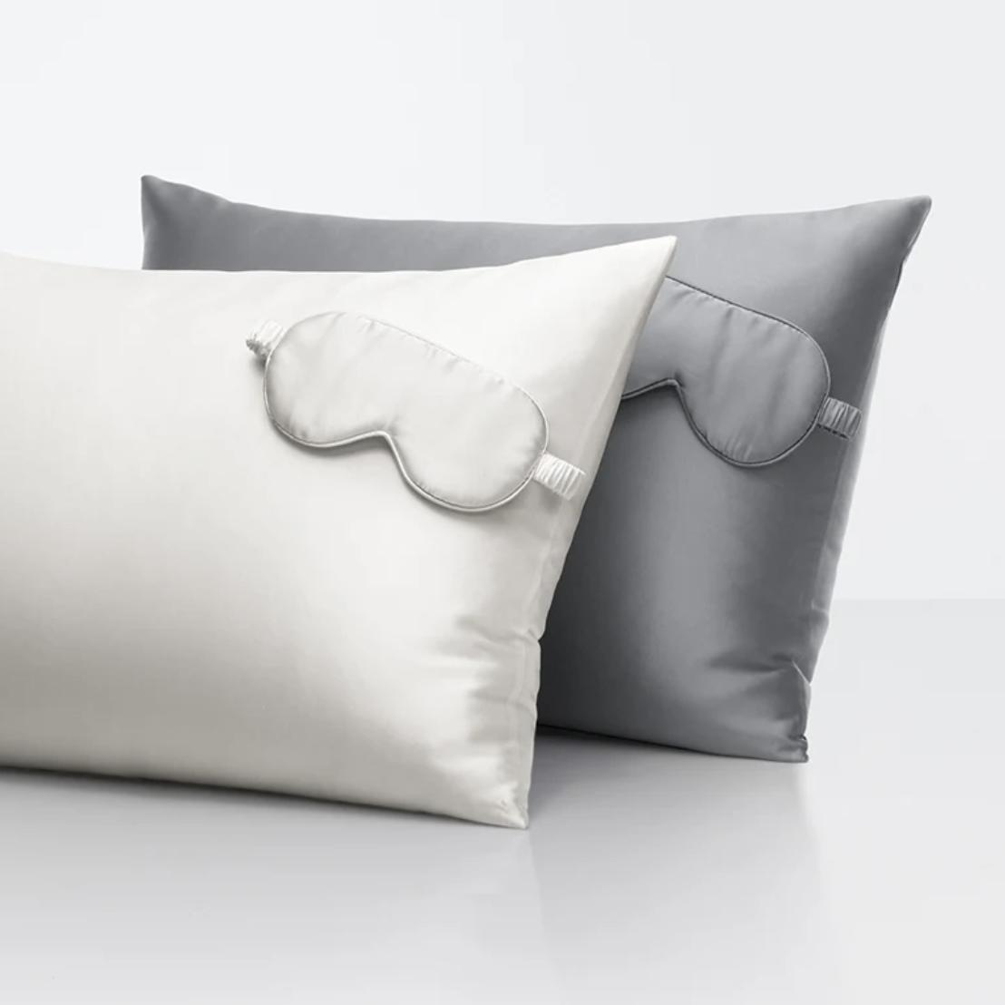Sleep Number Silk Pillowcase and Sleep Mask Set