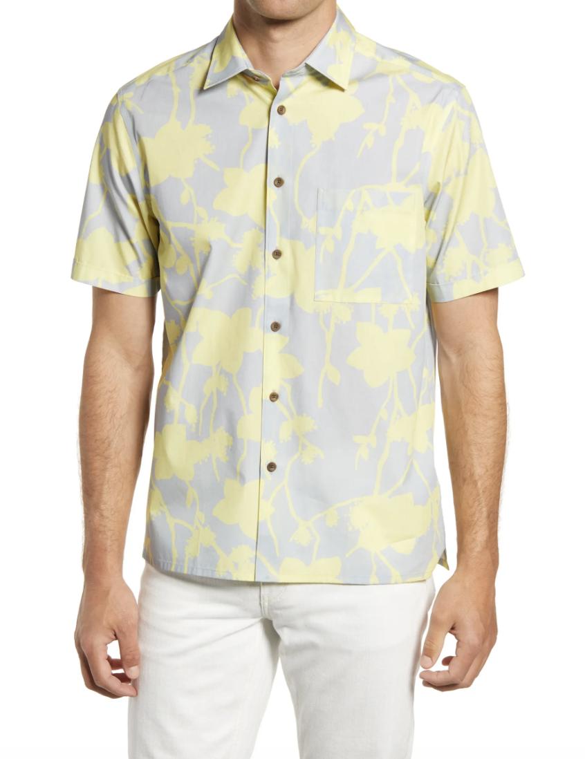 Ted Baker London Kardoor Floral Short Sleeve Button-Up Shirt