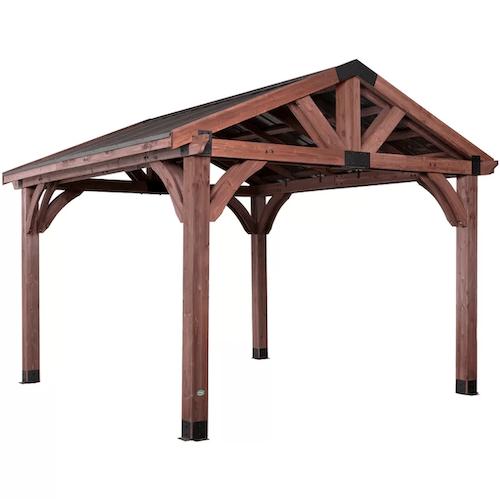 Backyard Discovery Arlington Solid Wood Patio Gazebo