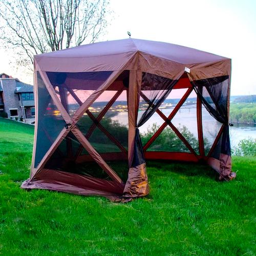 Backyard Expressions Luxury Hub Style Metal Pop Up Gazebo