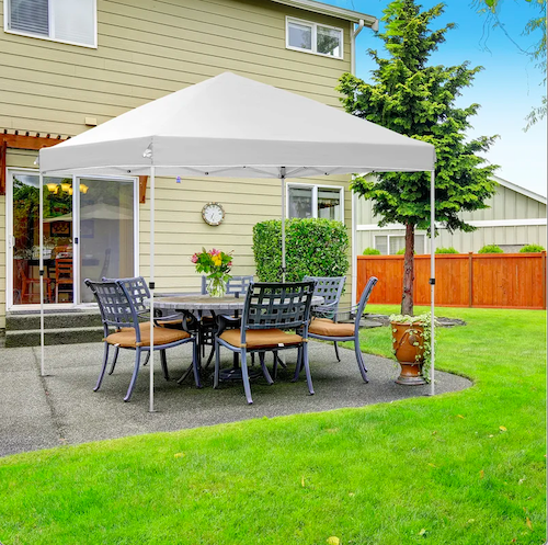 Ainfox Upgrated Pop Up Instant Canopy Gazebo With Roller Bag