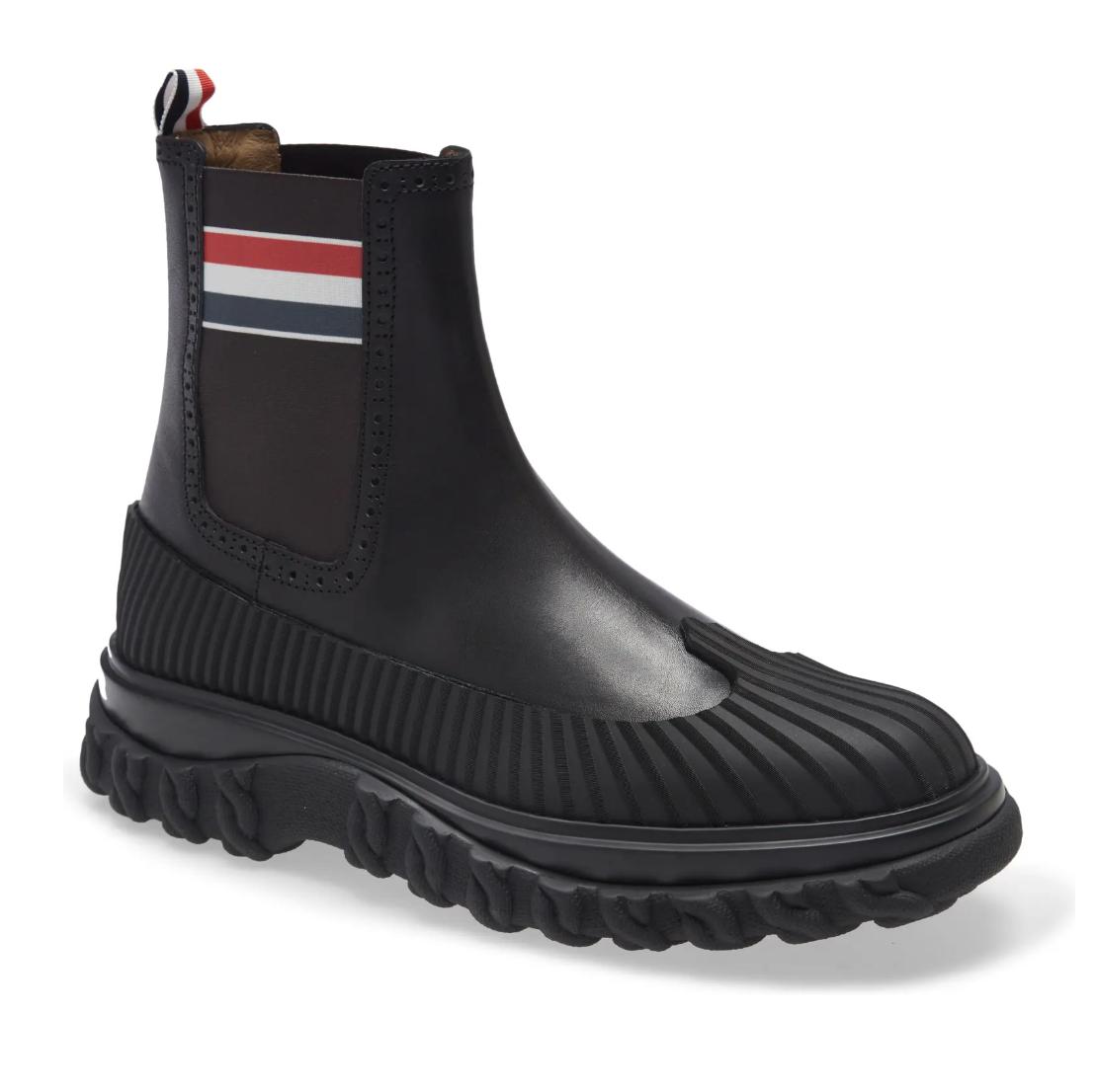 Thom Browne RWB Stripe Chelsea Duck Boot