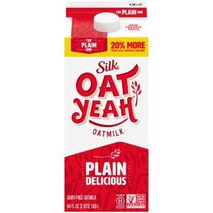 silk oat yeah the plain one oatmilk