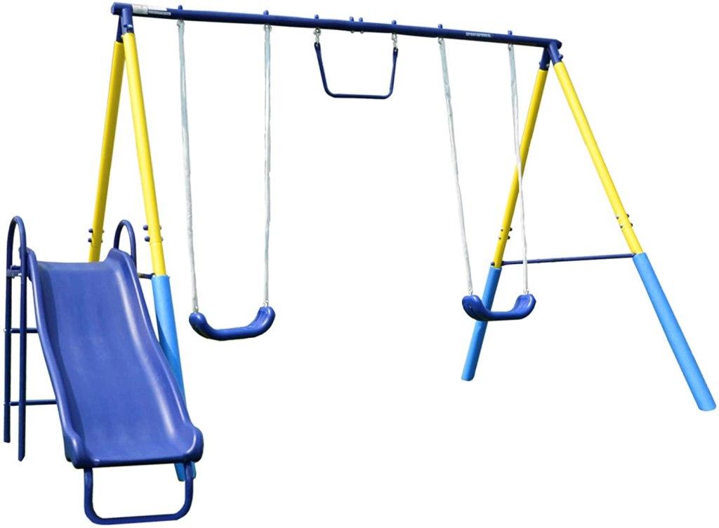 backyard swing sets sportspower my first metal swing set