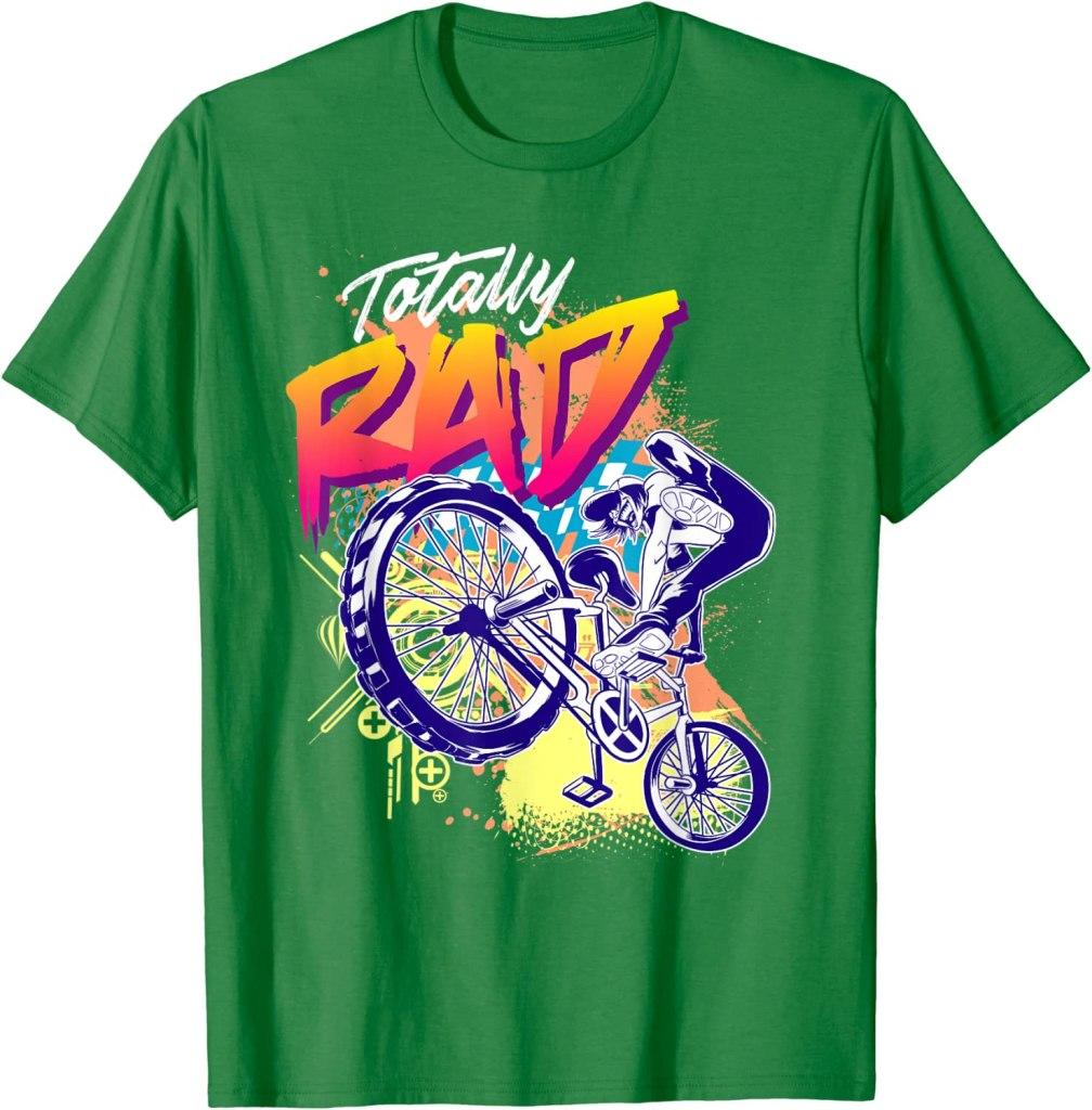 Style-Universal-Totally-Rad-BMX-Bike-T-Shirt