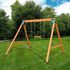 backyard swing sets swing n slide wooden swing