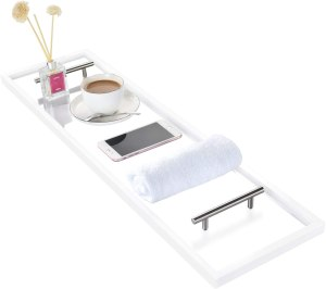 toilettree clear acrylic bathtub caddy