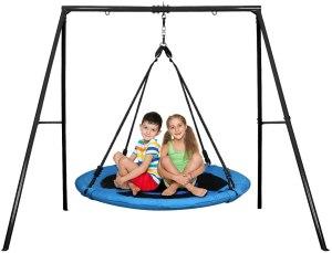 backyard swing sets trekassy saucer tree swing