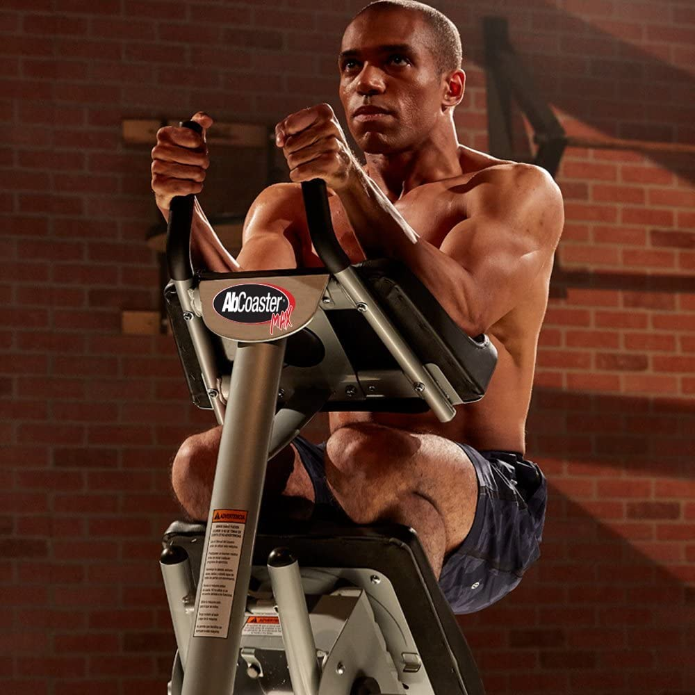 Man uses Tristar Products AbCoaster ab machine, best ab machines