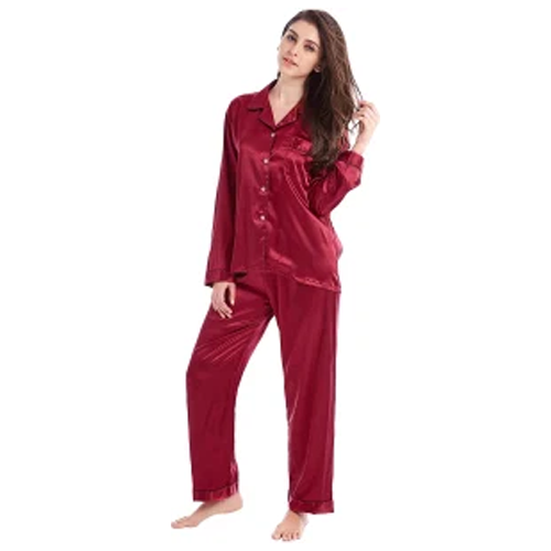 women's classic satin pajama set, gifts for her