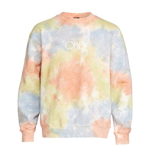 Obey Fleece Tie Dye Crewneck Sweatshirt