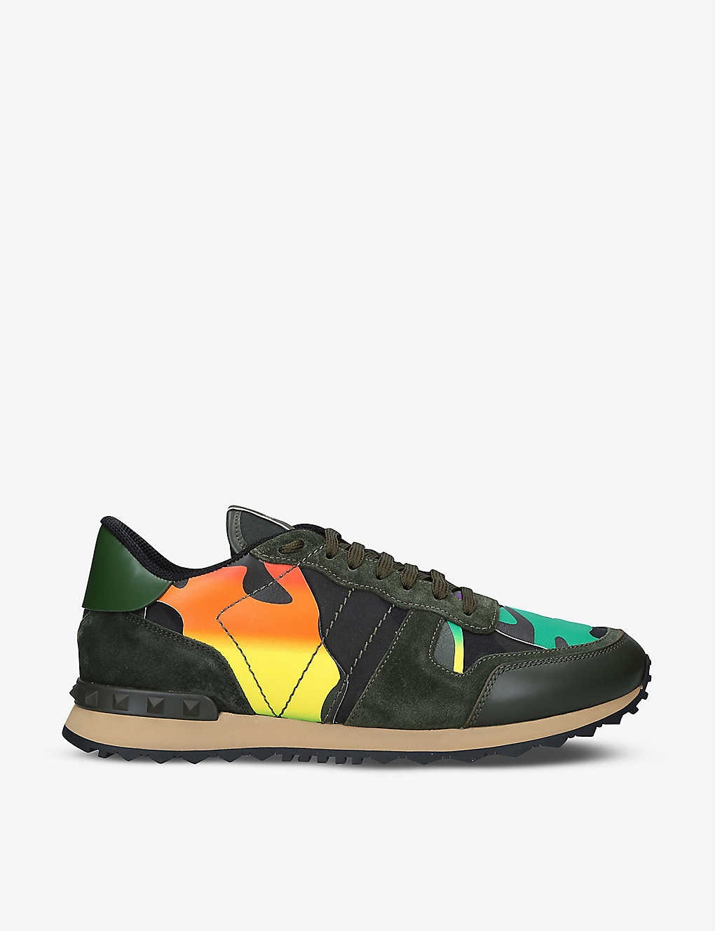 Valentino Garavini Rock Runner Suede and Leather Sneakers -Best Designer Sneakers