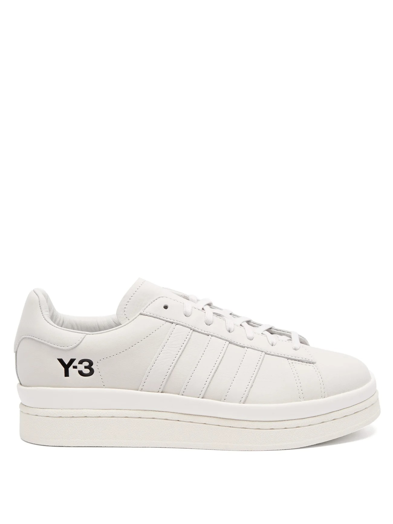 Y-3 Hicho Exaggerated Sole Leather Sneakers - Best designer sneaker