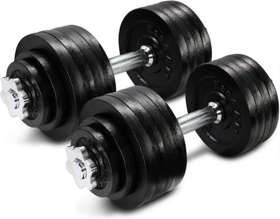 Yes4All Adjustable Dumbbells set, 105 pounds, best weight sets
