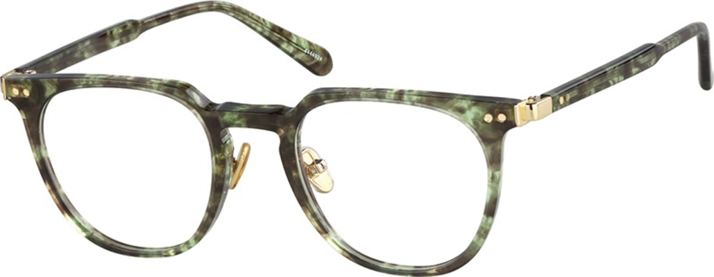 Zenni Optical moss green round glasses, trendy glasses for men