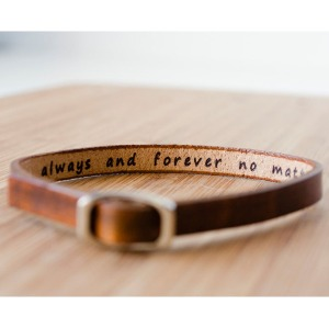 Personalized Leather Bracelet for men