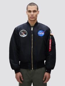 Alpha industries bomber jacket, best NASA merch