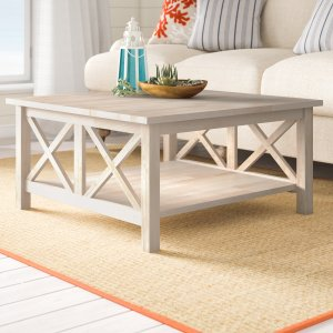 beachcrest home unfinished cosgrave solid wood coffee table