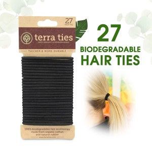 biodegradable hair ties, how to go plastic free