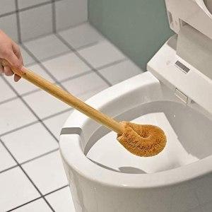 coconut fiber toilet brush, how to go plastic free