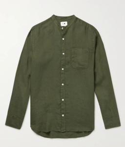 collarless shirt