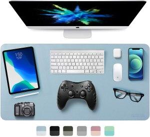non-slip desk mat, desk accessories, perfect Zoom setup