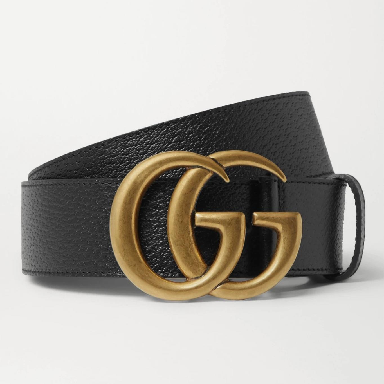 Gucci 4cm Full-Grain Leather Belt