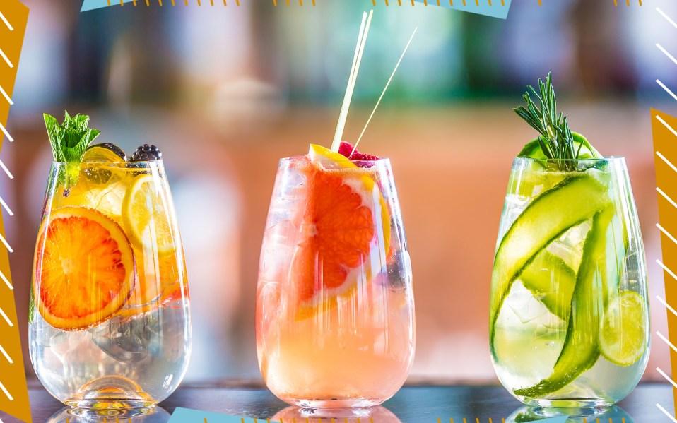 three gin and tonics