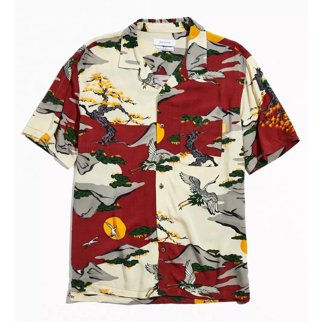 UO Painted Animals Camp Collar Shirt
