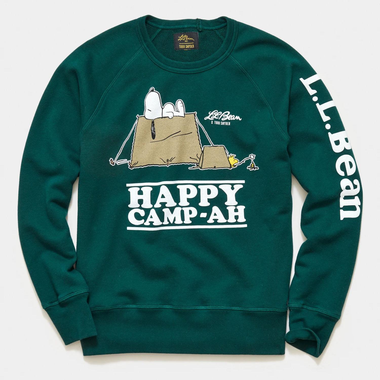L.L.Bean x Todd Snyder: Peanuts Edition Happy Camp-Ah Sweatshirt
